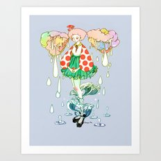Watery Art Print