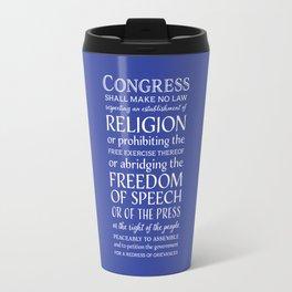 First Amendment Rights Travel Mug