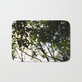 Silhouette of Leaves Bath Mat