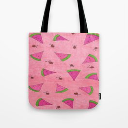 Watermelons and Lady Bugs Tote Bag