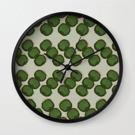 dots zigzag-green Wall Clock