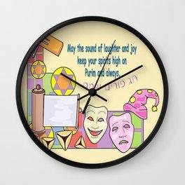 Purim Wall Clock