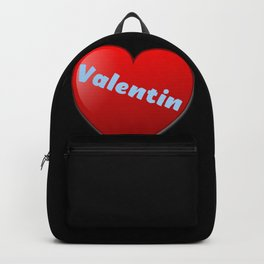 Cute Heart with Valentin and Valentina Valentinesday Valentines Day Valentine Day Design Backpack