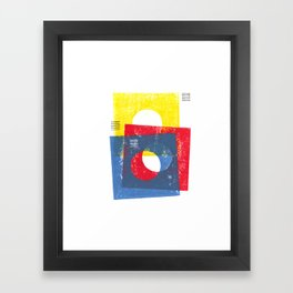Basic in red, yellow and blue Framed Art Print