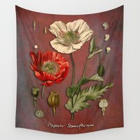 poppy Wall Tapestries featuring Poppy by jbjart