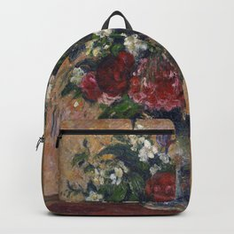 Camille Pissarro - Still life with peonies and mock orange Backpack