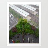A Beautiful Rainy Day In My Seoul Art Print