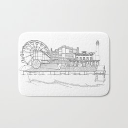 The Jersey Shore by the Downtown Doodler Bath Mat