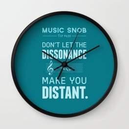 The Dissonance — Music Snob Tip #439 Wall Clock