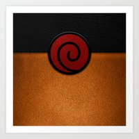 naruto Art Prints featuring NARUTO by September 9