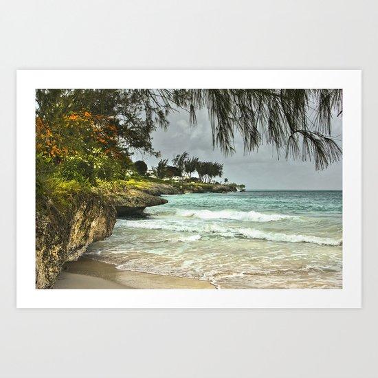 Barbados Beach Art Print