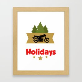 Moped Simson Merry Christmas Poison T-Shirt Framed Art Print