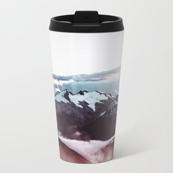 Faded mountain Metal Travel Mug