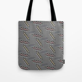 Colorful table kicker player   Q9Q Pattern Tote Bag