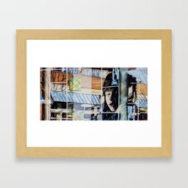 Frozen in Layers Framed Art Print