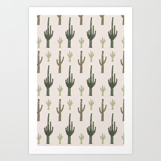 Cactus Pattern Art Print
