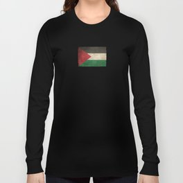 Old and Worn Distressed Vintage Flag of Palestine Long Sleeve T-shirt