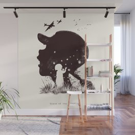 Grave of the fireflies Wall Mural