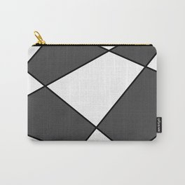 Geometric abstract - gray, black and white. Carry-All Pouch