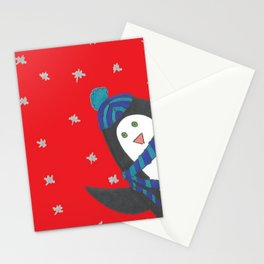 Cheerful Holiday Penguin Stationery Cards