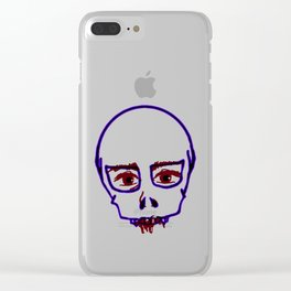 Pop Skull Clear iPhone Case