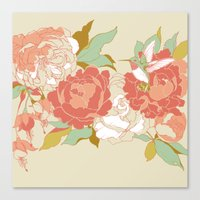 garden Canvas Prints featuring garden party by Teagan White
