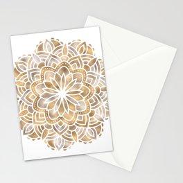 Mandala Multi Metallic in Gold Silver Bronze Copper Stationery Cards