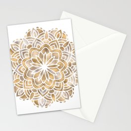 Mandala Multi Metallic in Gold Silver Bronze Copper Stationery Cards