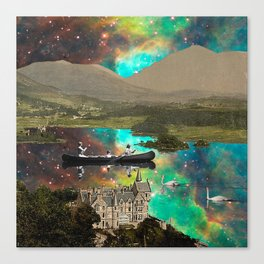 CANOEING IN THE NEBULA NEAR THE CASTLE Canvas Print