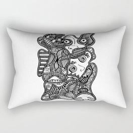 Faces in the Dark Rectangular Pillow