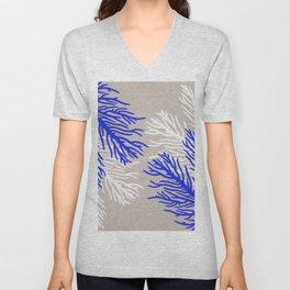 Coral Pattern Unisex V-Neck