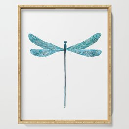 Dragonfly, watercolor Serving Tray