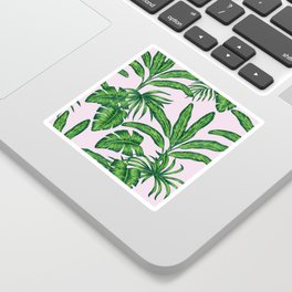 banana trees marker pattern Sticker