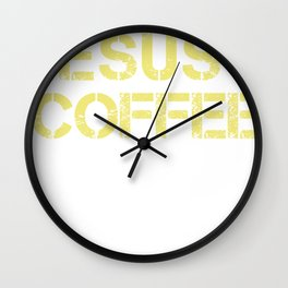 Jesus Coffee & Trump print For Christian Trump Supporters  graphic Wall Clock