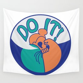 Do It! Orange Wall Tapestry