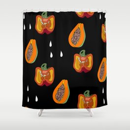DINNER IN SPAIN BLACK Shower Curtain