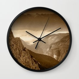 Afternoon Walk in the Hills Wall Clock