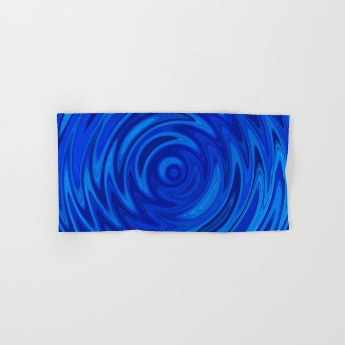 Water Moon Cobalt Swirl Hand & Bath Towel