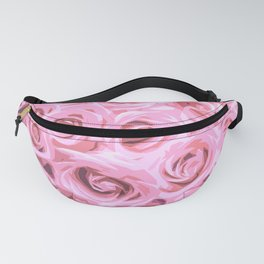 Elegant Abstract Pink Roses Fanny Pack