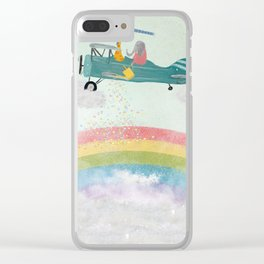creating rainbows Clear iPhone Case