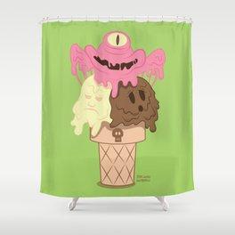 Neapolitan - The Psychopath Icecream Shower Curtain