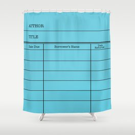 LiBRARY BOOK CARD (sky) Shower Curtain