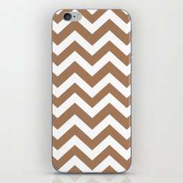 Tuscan tan - brown color - Zigzag Chevron Pattern iPhone Skin