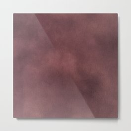 Rose Gray Fabric Watercolor Texture Metal Print
