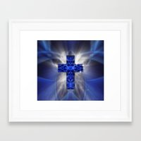 cross Framed Art Prints featuring Cross by Mr D's Abstract Adventures