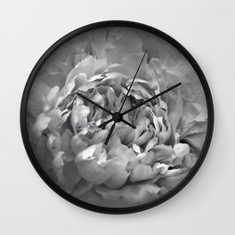 Blushing Friar Gray Peony - Floral Wall Clock