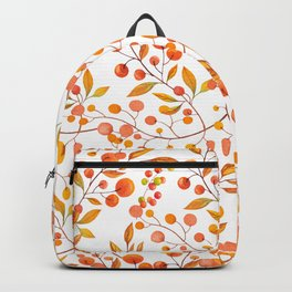 Hand painted orange gold fall berries floral Backpack