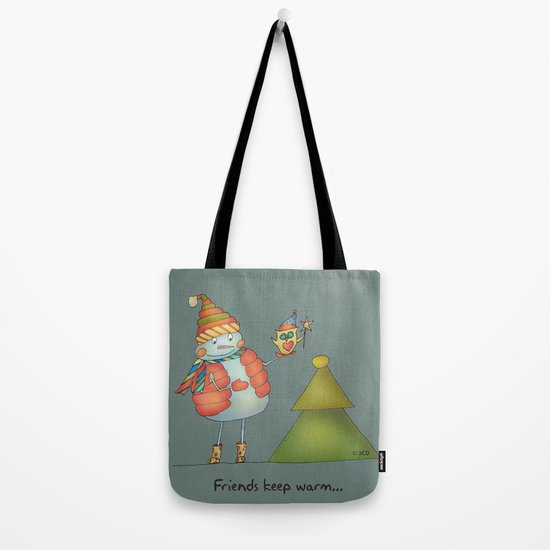 Friends keep warm - greyish Tote Bag