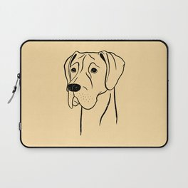Great Dane (Fawn and Black) Laptop Sleeve