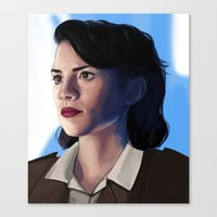 peggy carter Canvas Prints featuring Peggy carter.  by tantoun